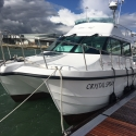 11.2m flybridge cruiser on berth M707